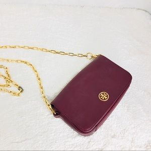 🌸OFFERS?🌸Tory Burch Leather Burgundy Crossbody